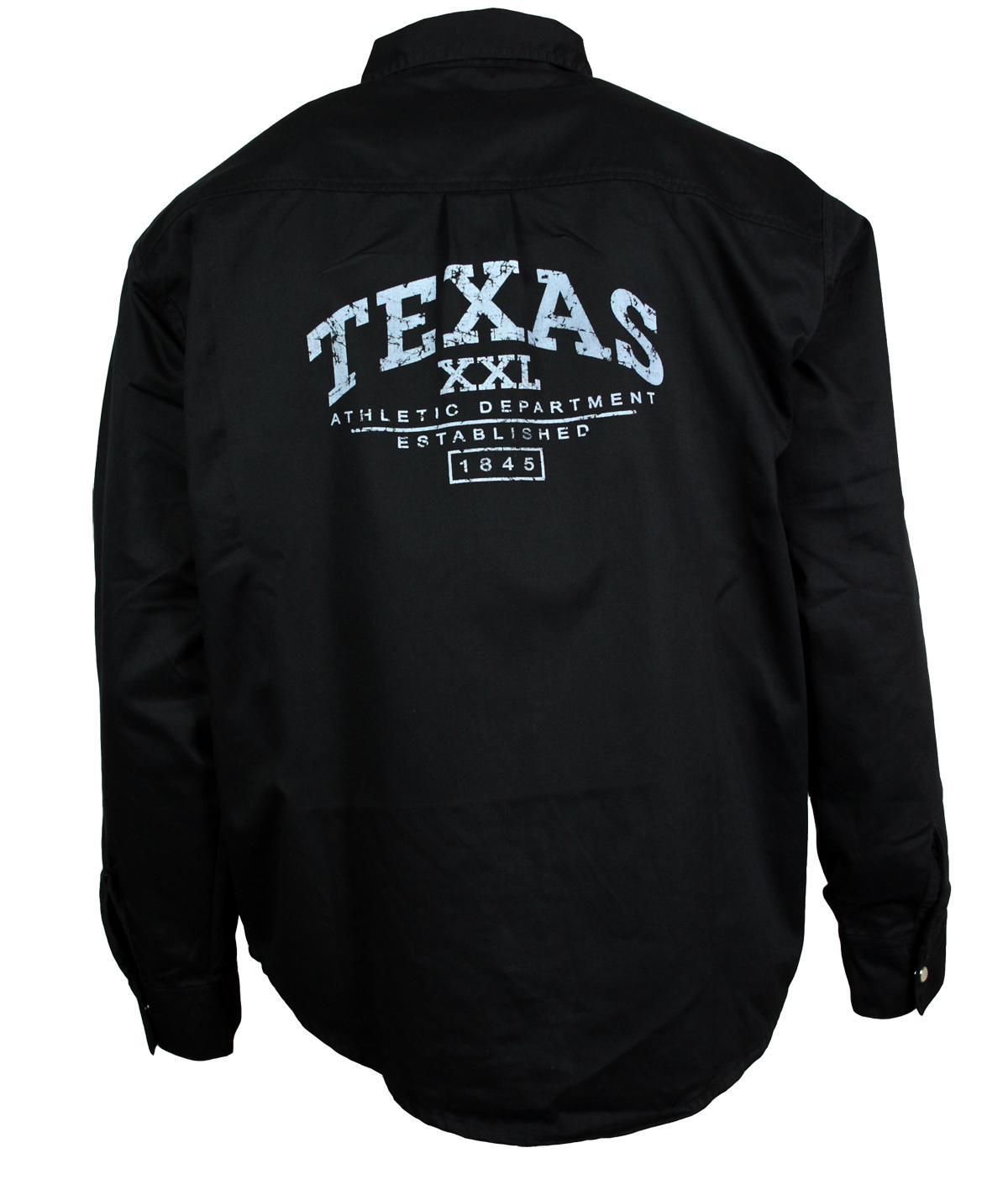 jeansartikel lederartikel strassartikel online kaufen jeanshemd texas schwarz. Black Bedroom Furniture Sets. Home Design Ideas