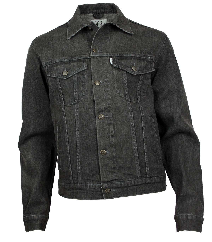 modische Muster aktuelles Styling ziemlich cool Western-Speicher Jeansjacke Denim Herren Jacke Grau S-4XL